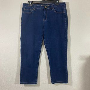 Michael Kors Straight Leg Cropped Dark Wash Jeans